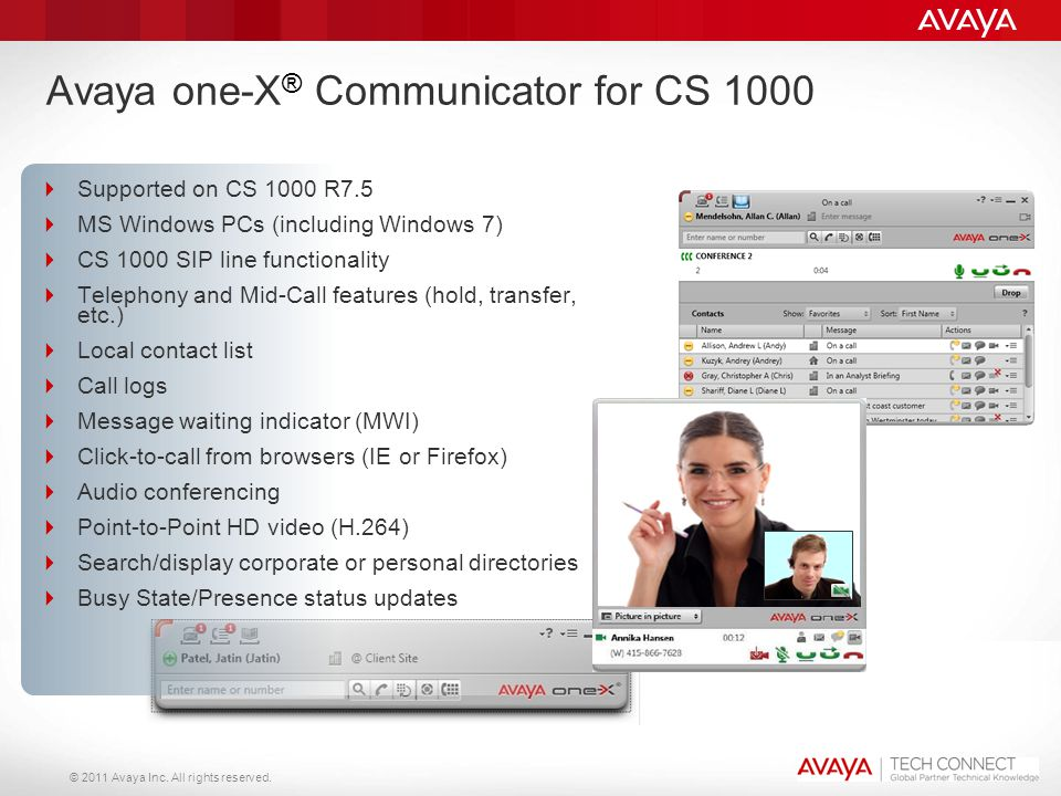 Avaya one-X® Communicator for CS 1000
