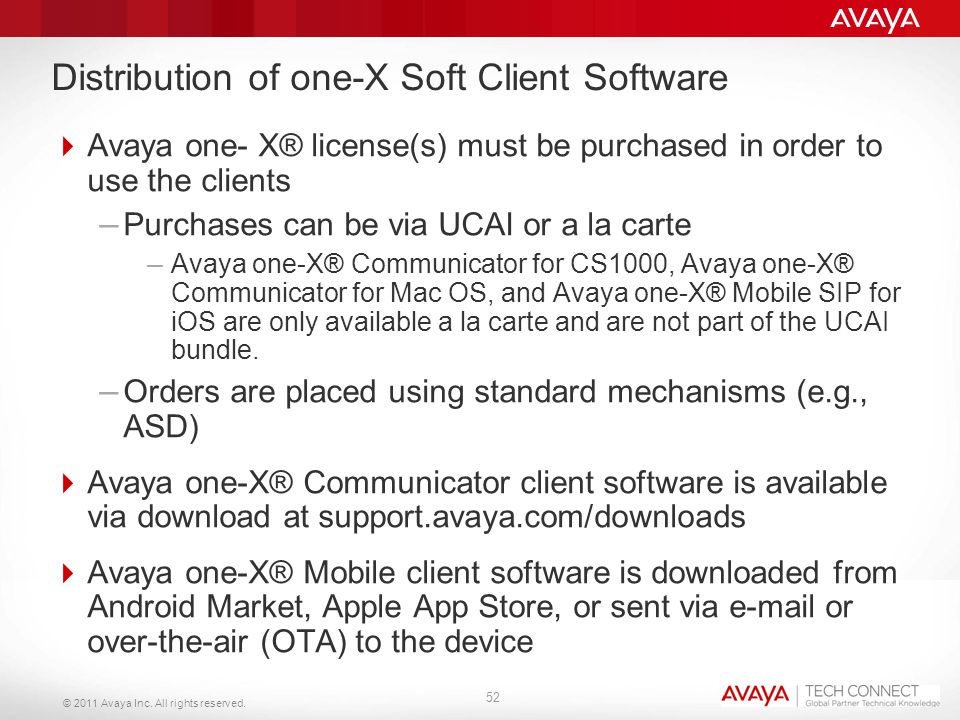 Distribution of one-X Soft Client Software