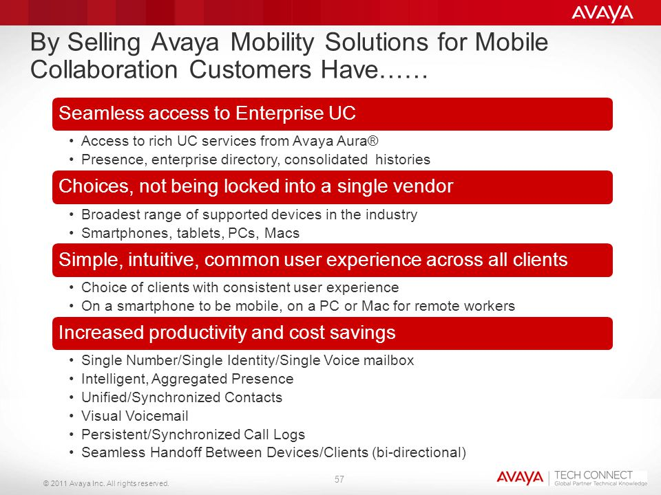 By Selling Avaya Mobility Solutions for Mobile Collaboration Customers Have……
