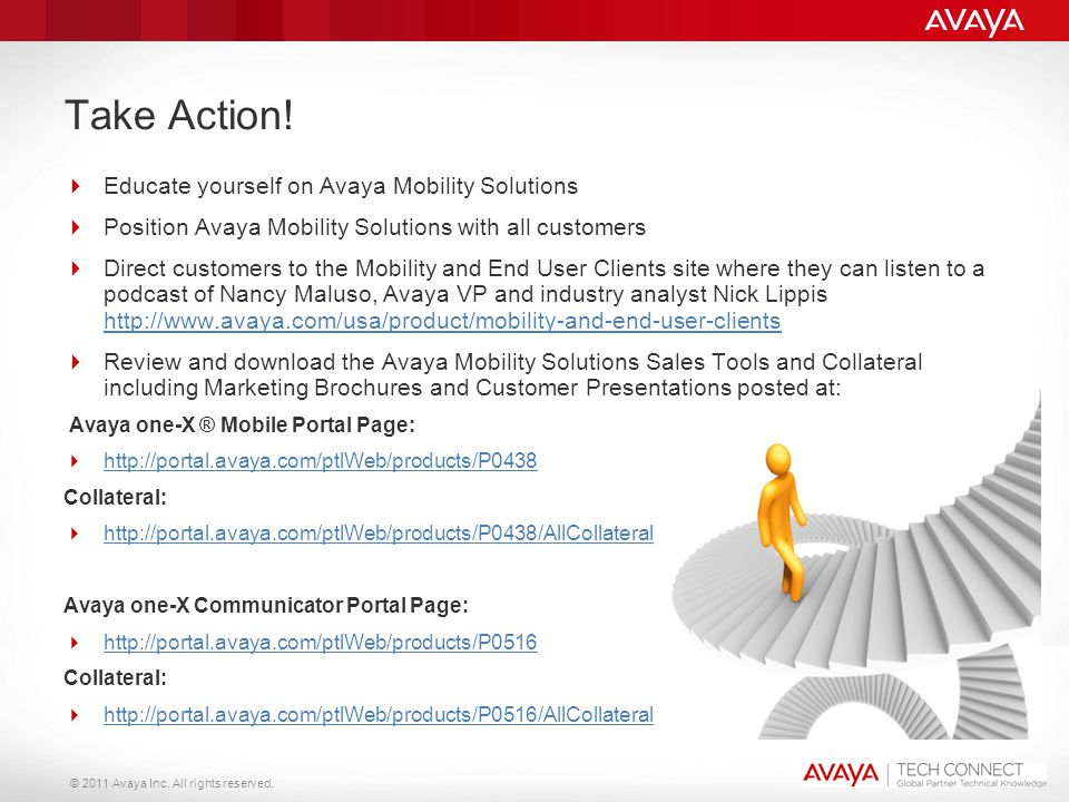 Take Action! Educate yourself on Avaya Mobility Solutions