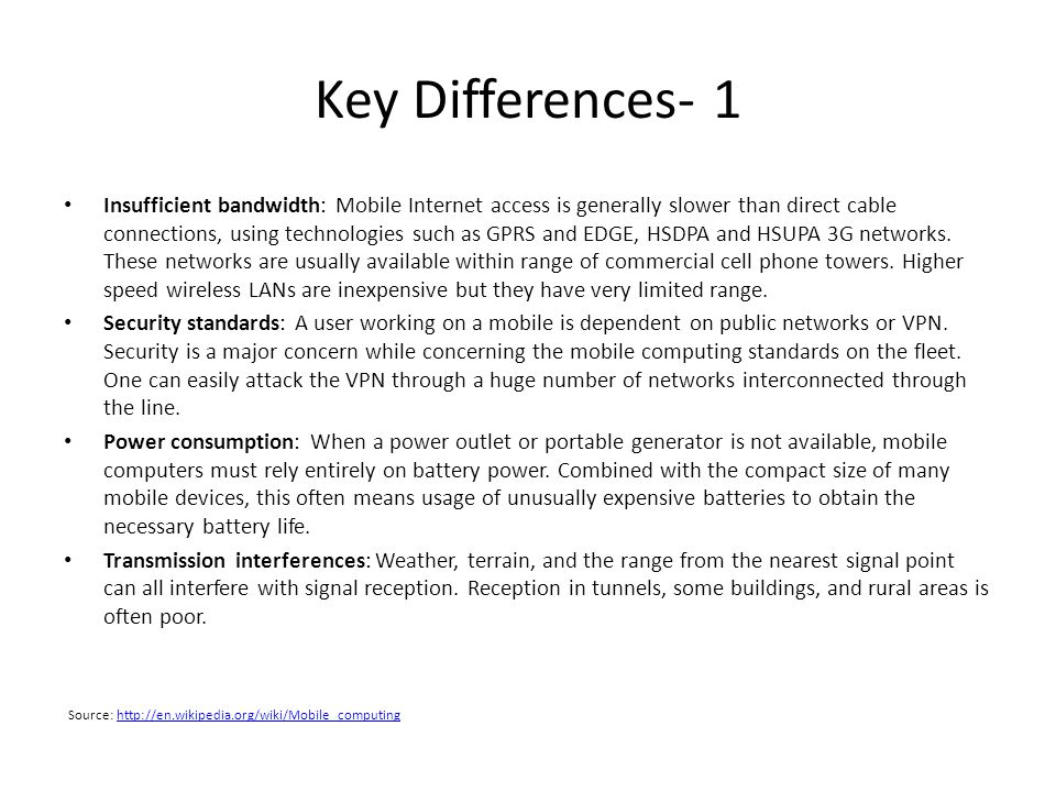 Key Differences- 1