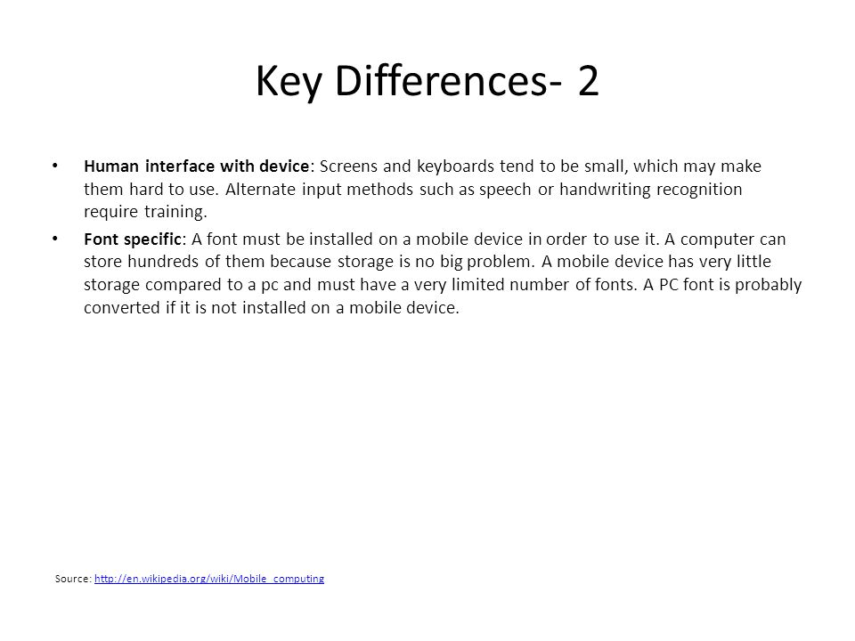 Key Differences- 2