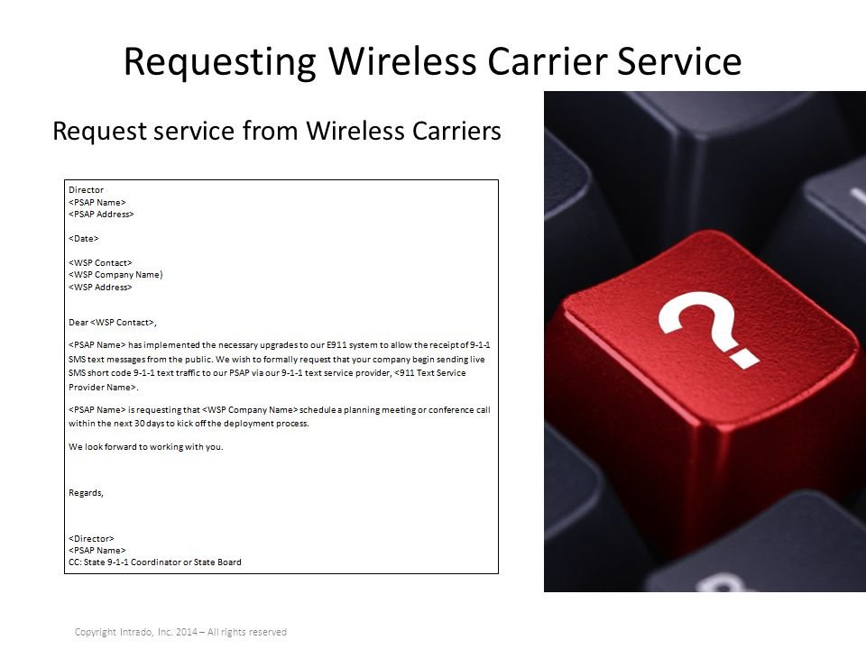 Requesting Wireless Carrier Service