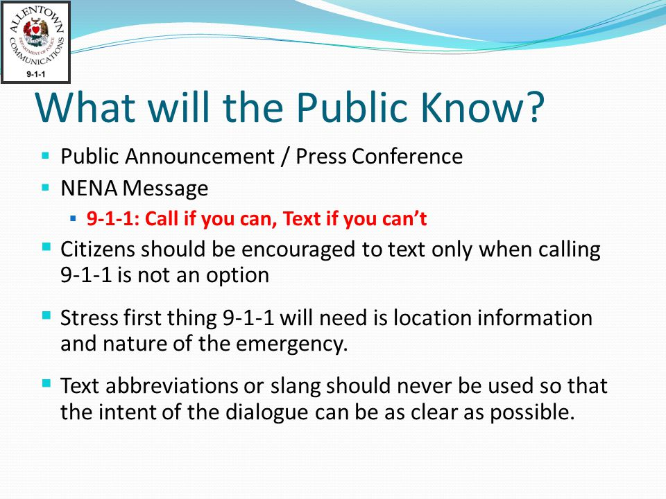 What will the Public Know