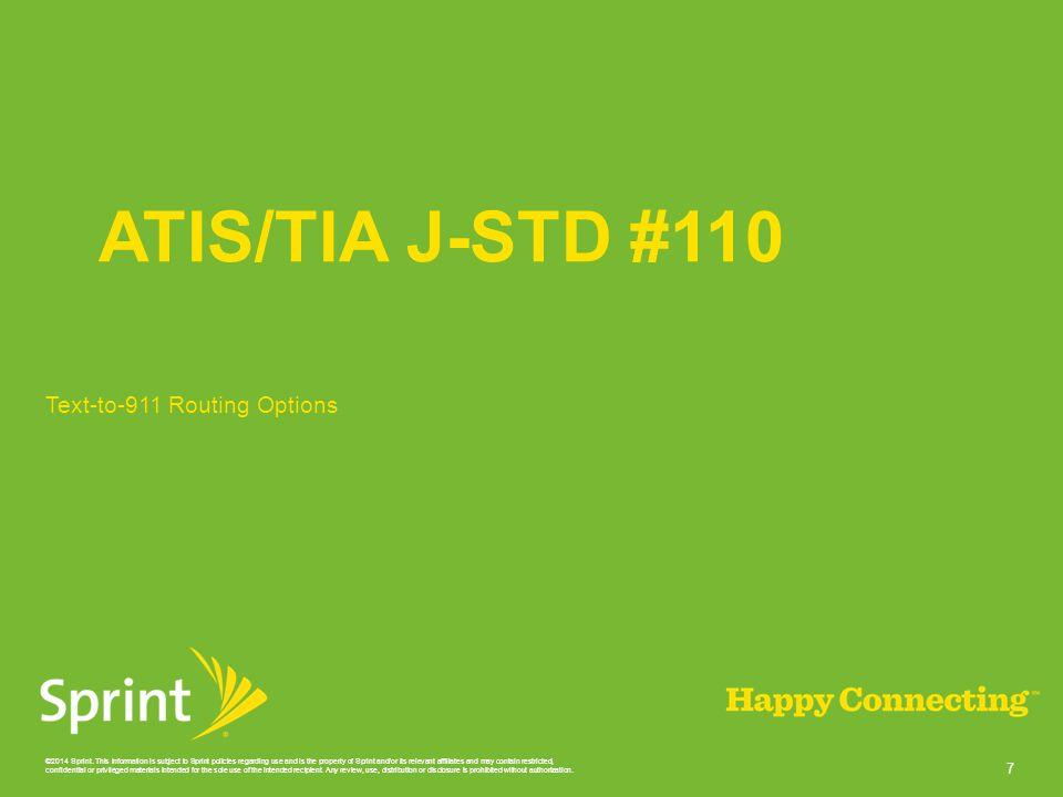 ATIS/TIA J-STD #110 Text-to-911 Routing Options
