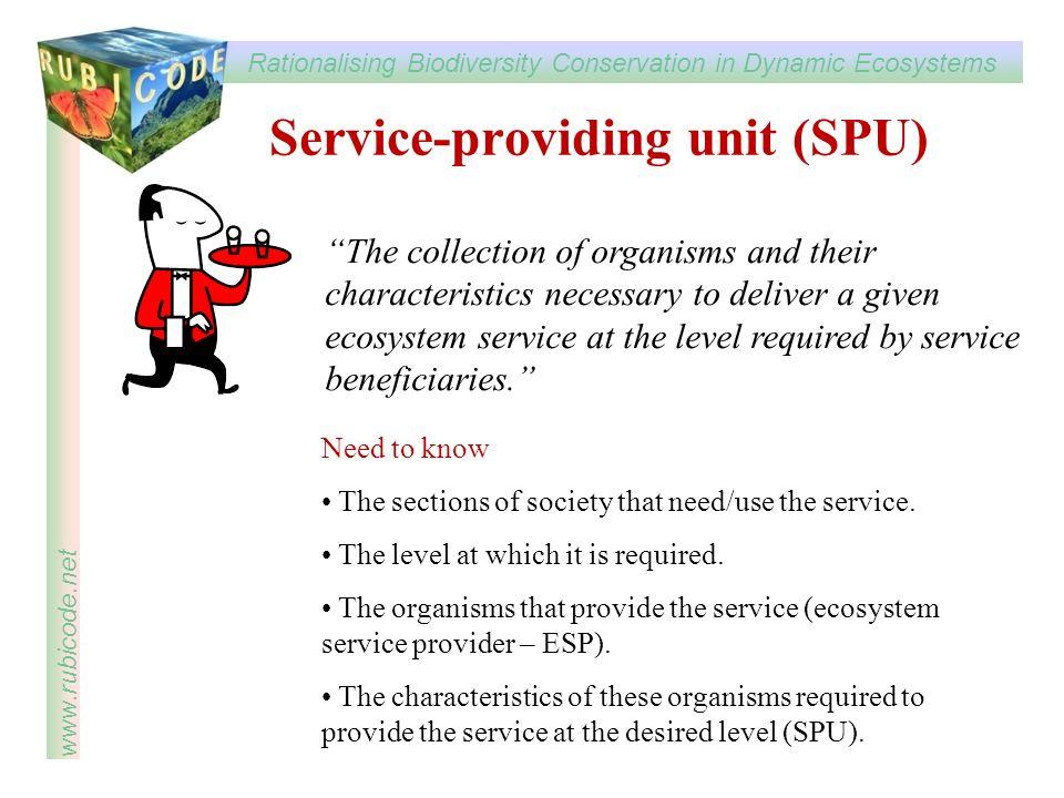 Service-providing unit (SPU)