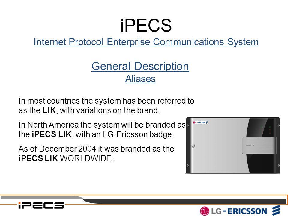 Internet Protocol Enterprise Communications System