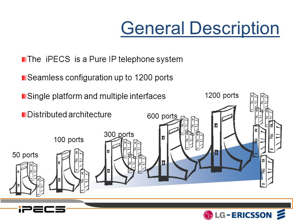 General Description The iPECS is a Pure IP telephone system