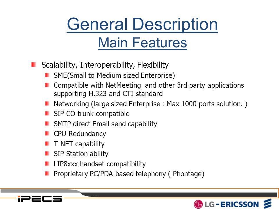 General Description Main Features