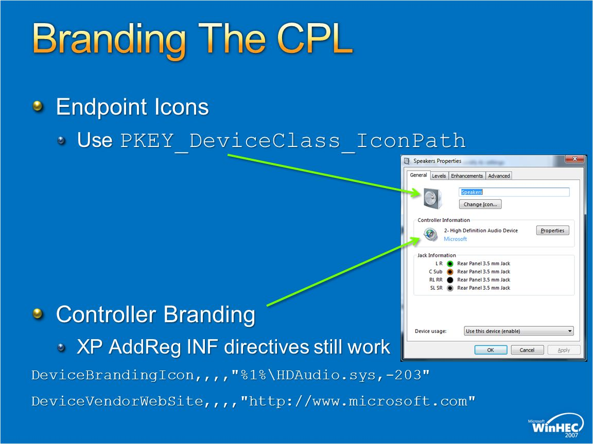 Branding The CPL Endpoint Icons Controller Branding