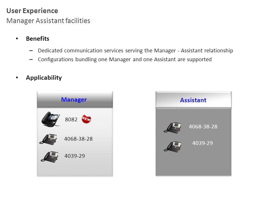 Manager Assistant facilities