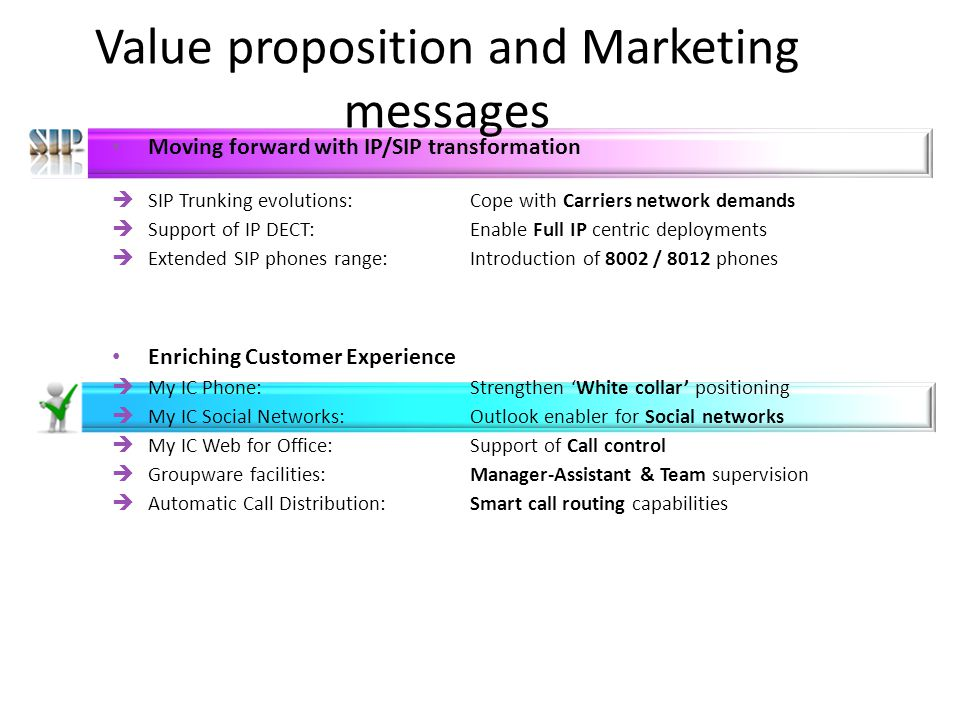 OXO RCE 9.0 Value proposition and Marketing messages