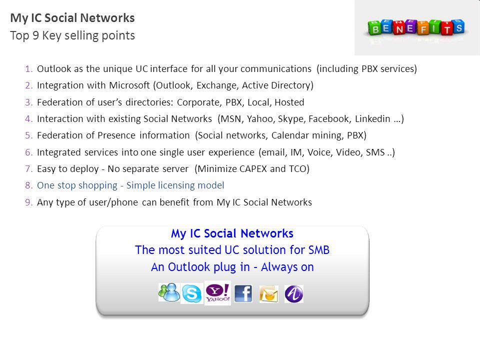 My IC Social Networks Top 9 Key selling points My IC Social Networks