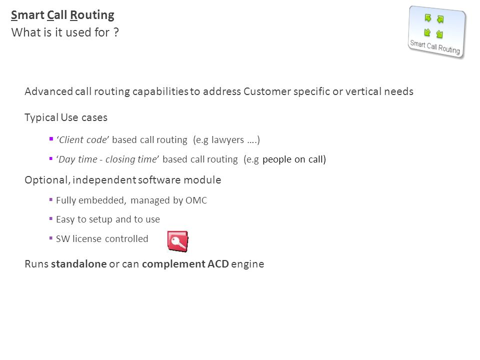 Smart Call Routing What is it used for