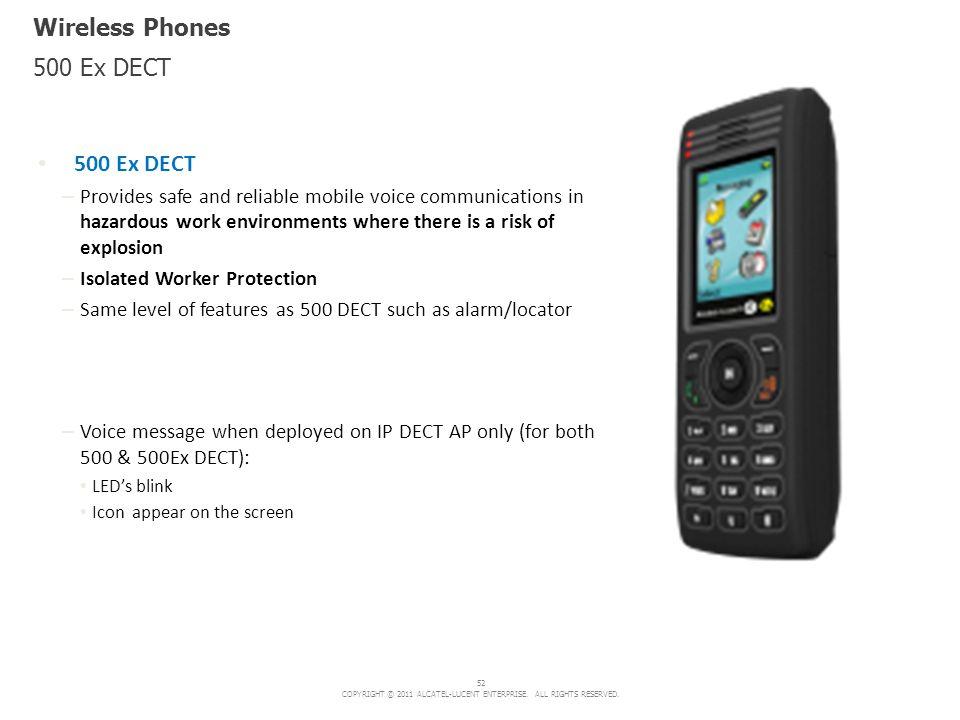 Wireless Phones 500 Ex DECT