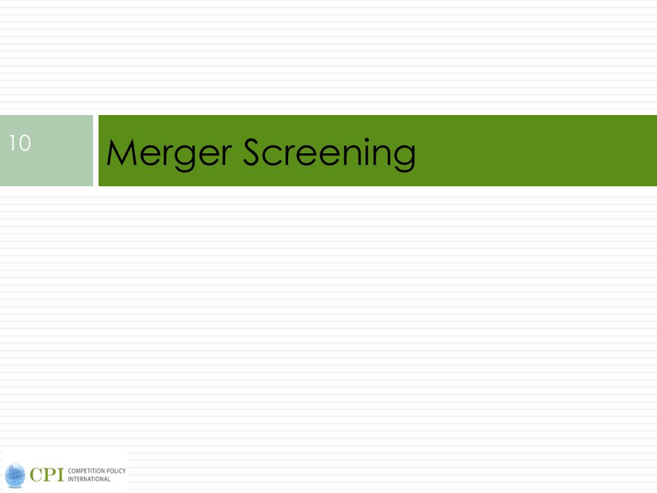 Merger Screening