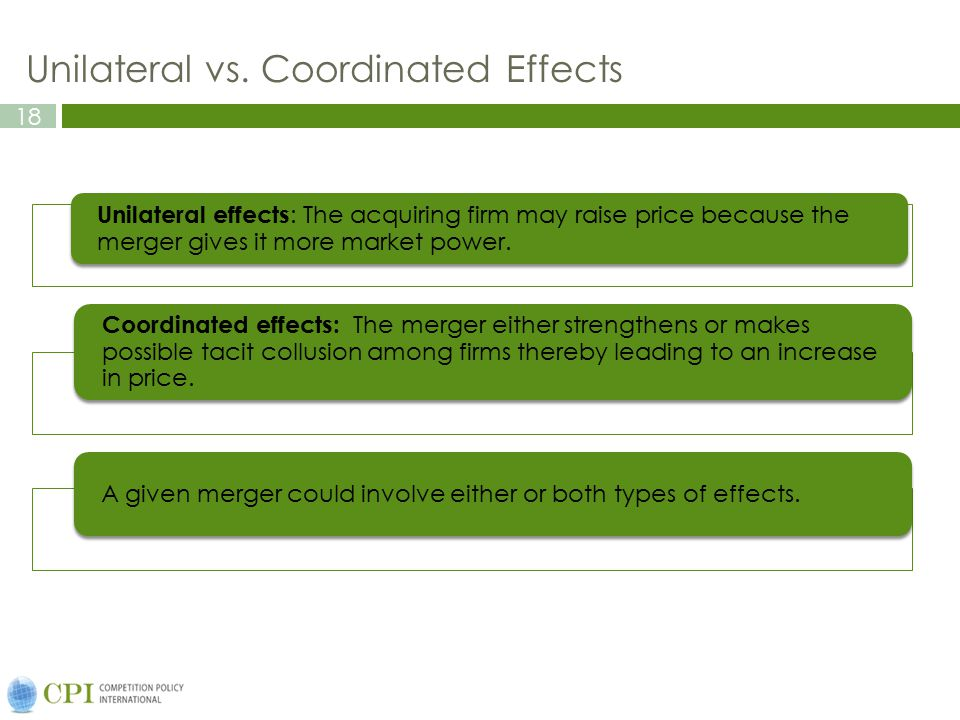 Unilateral vs. Coordinated Effects