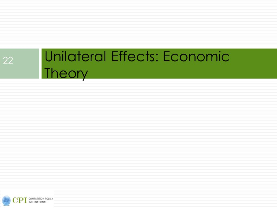 Unilateral Effects: Economic Theory