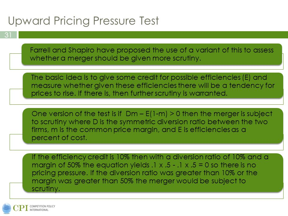 Upward Pricing Pressure Test