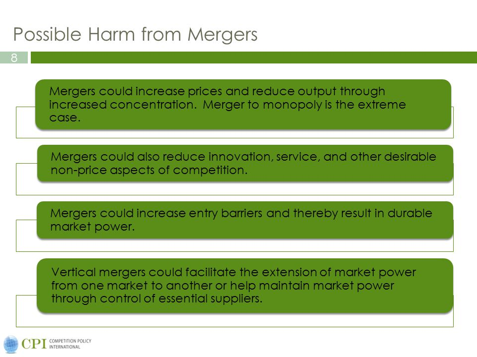 Possible Harm from Mergers