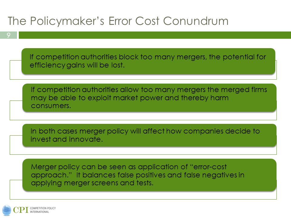The Policymaker's Error Cost Conundrum