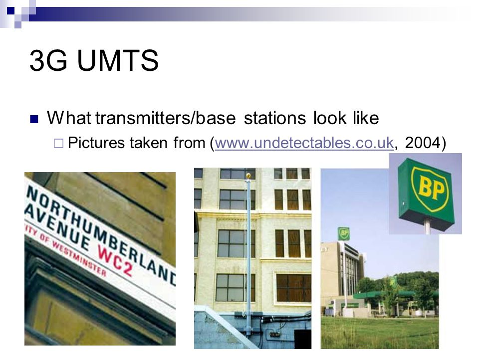 3G UMTS What transmitters/base stations look like