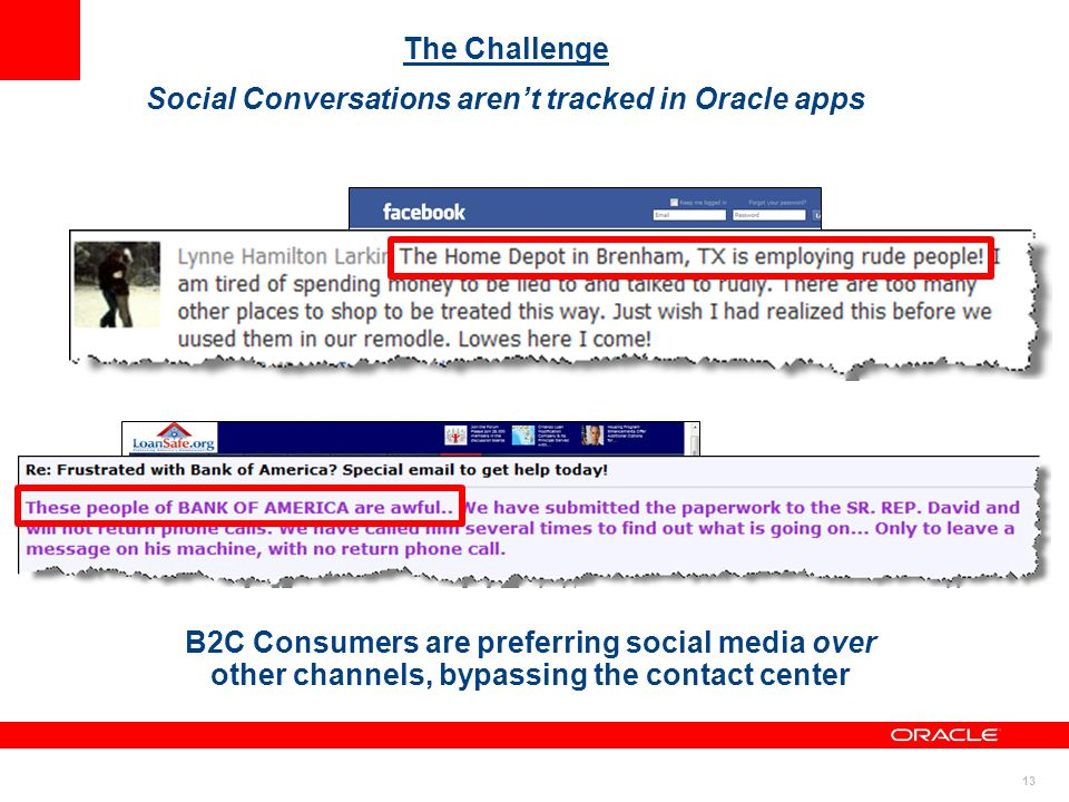 Social Conversations aren't tracked in Oracle apps