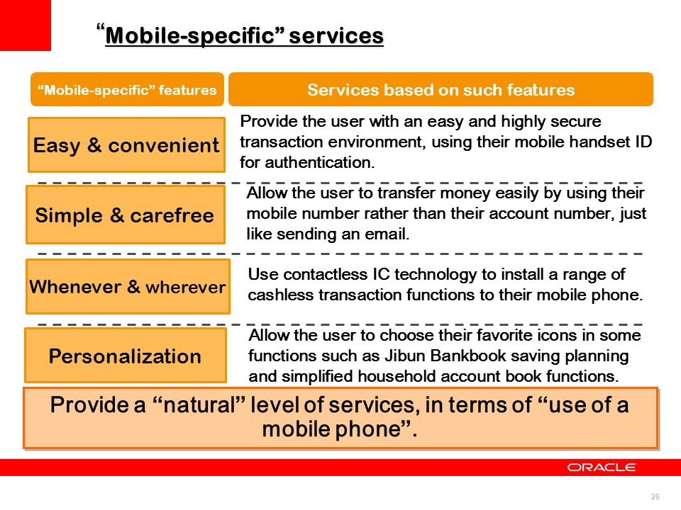 Mobile-specific services