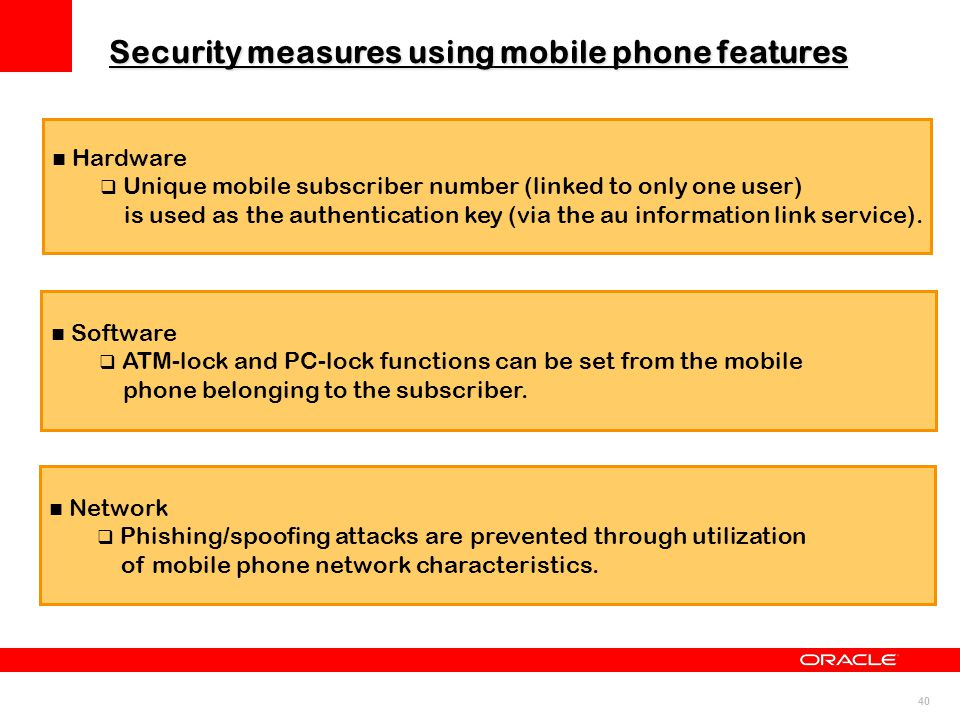 Security measures using mobile phone features