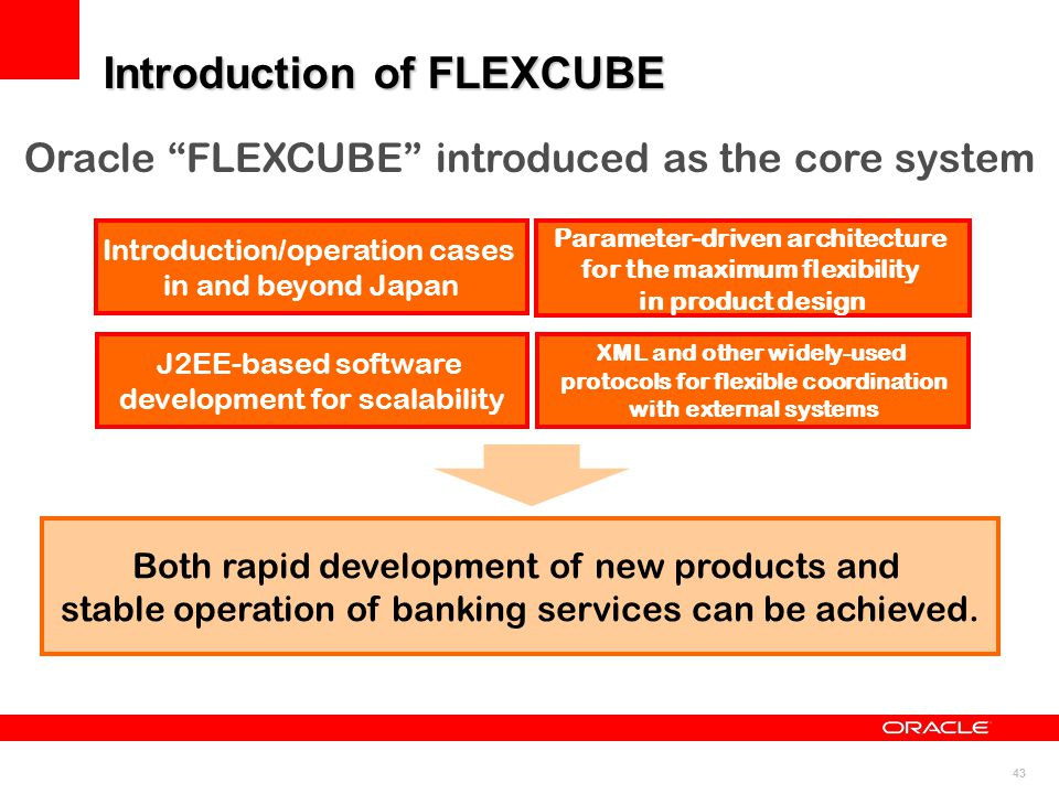 Introduction of FLEXCUBE