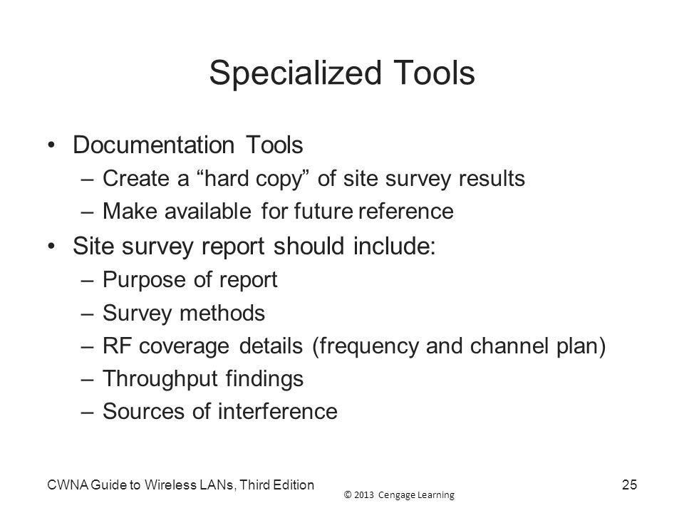 Specialized Tools Documentation Tools