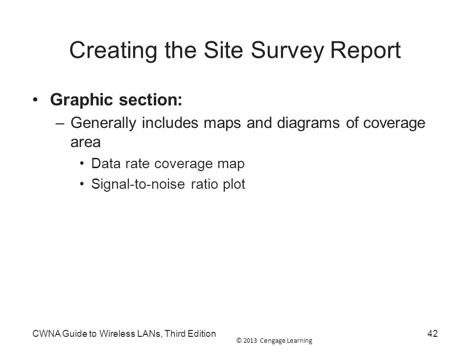 Creating the Site Survey Report