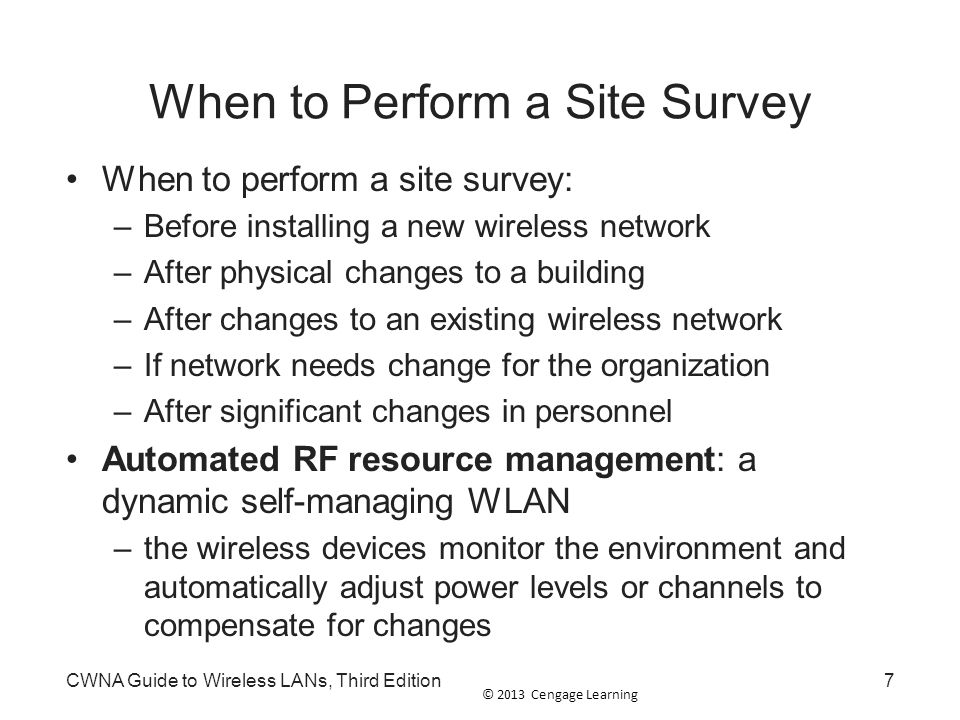 When to Perform a Site Survey