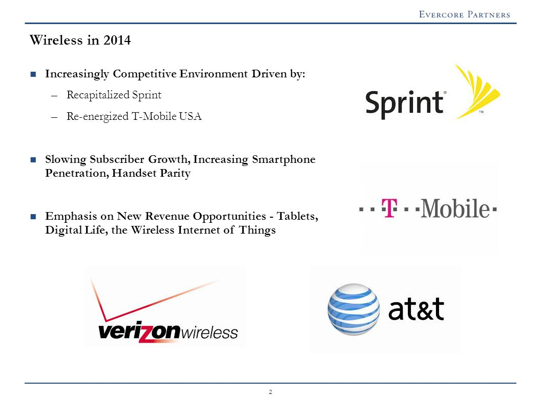Wireless in 2014: Increasingly Competitive Environment