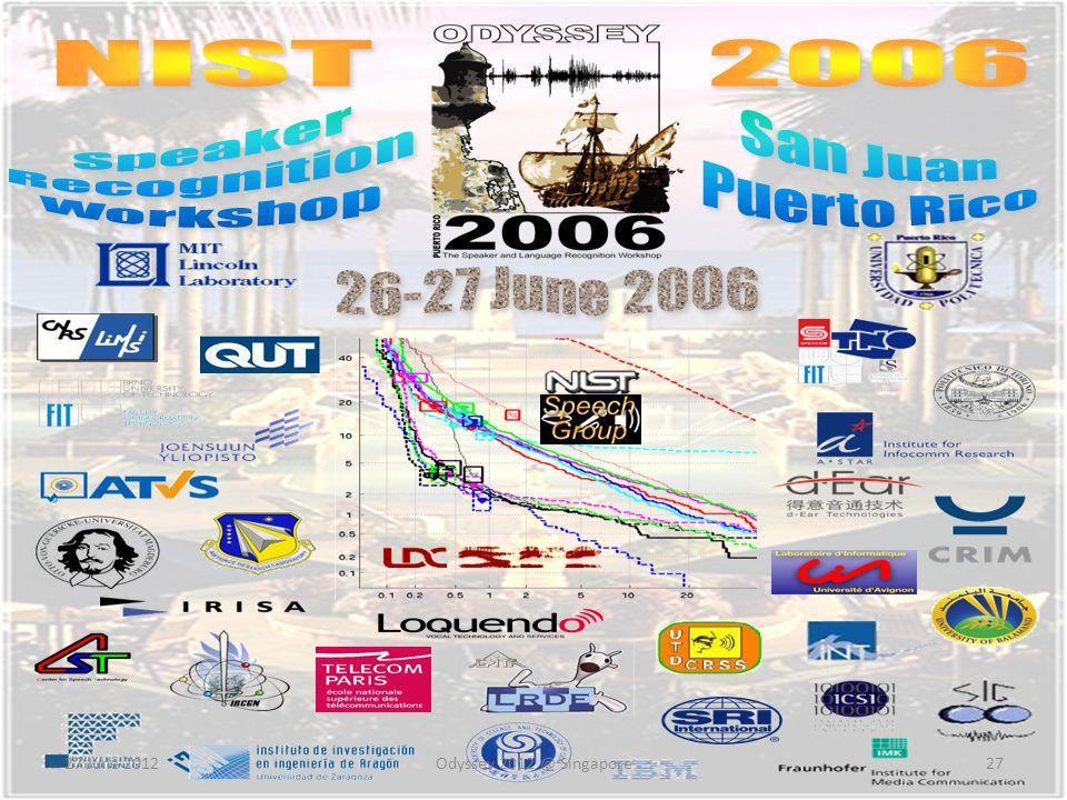 NIST 2006 Speaker San Juan Recognition Puerto Rico Workshop
