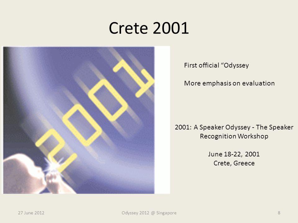 2001: A Speaker Odyssey - The Speaker Recognition Workshop
