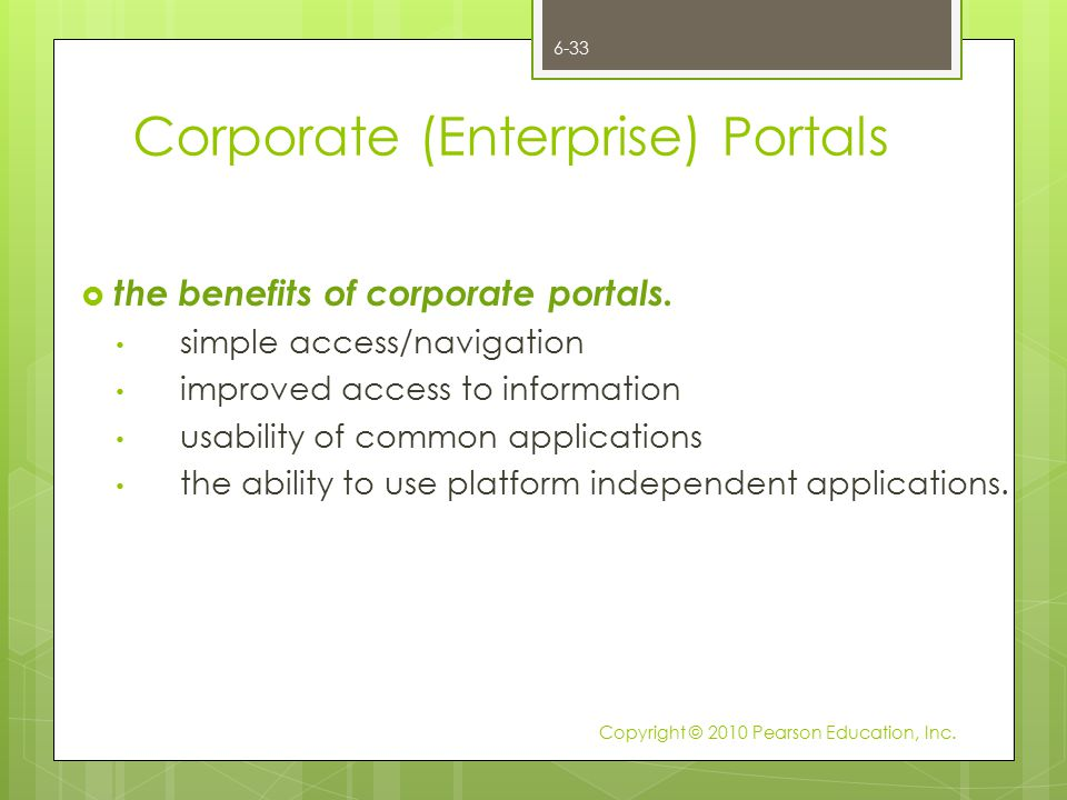 Corporate (Enterprise) Portals
