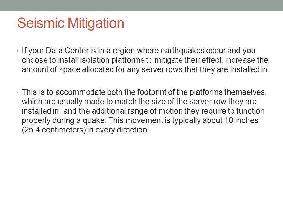 Seismic Mitigation