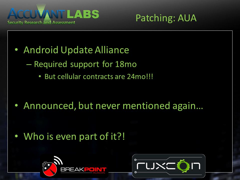 Android Update Alliance