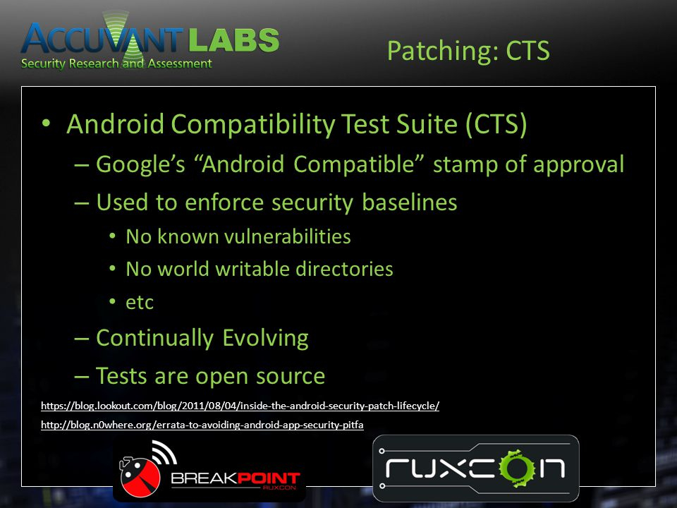 Android Compatibility Test Suite (CTS)