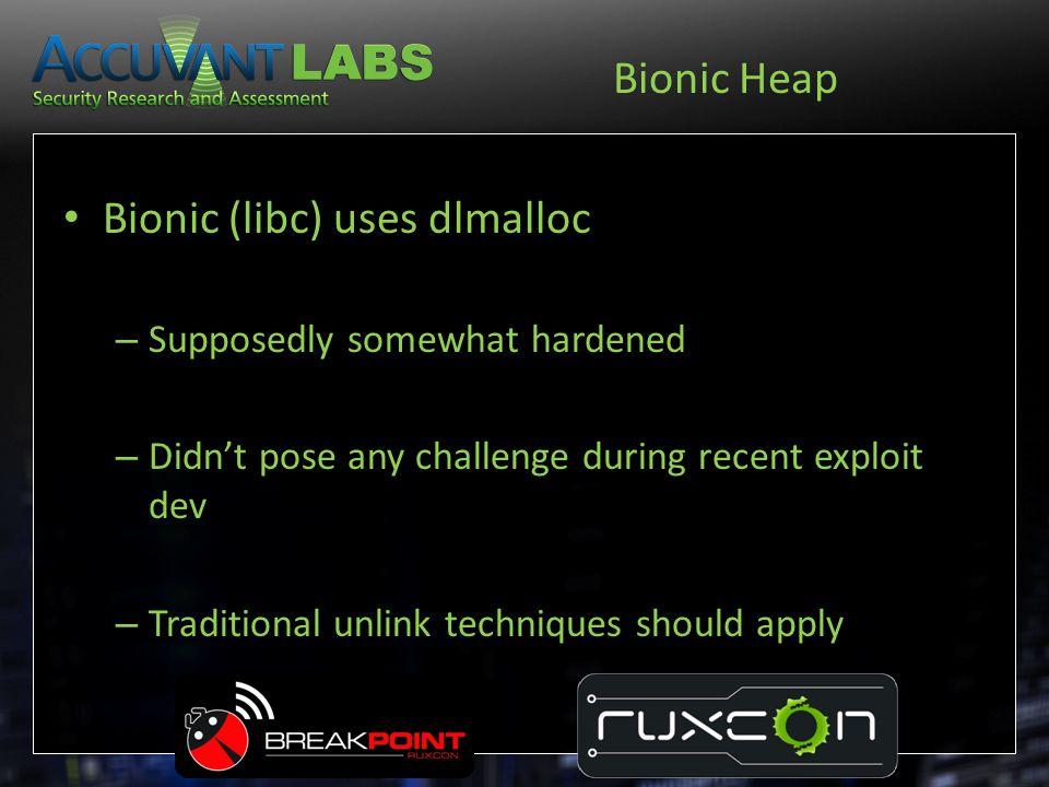 Bionic (libc) uses dlmalloc