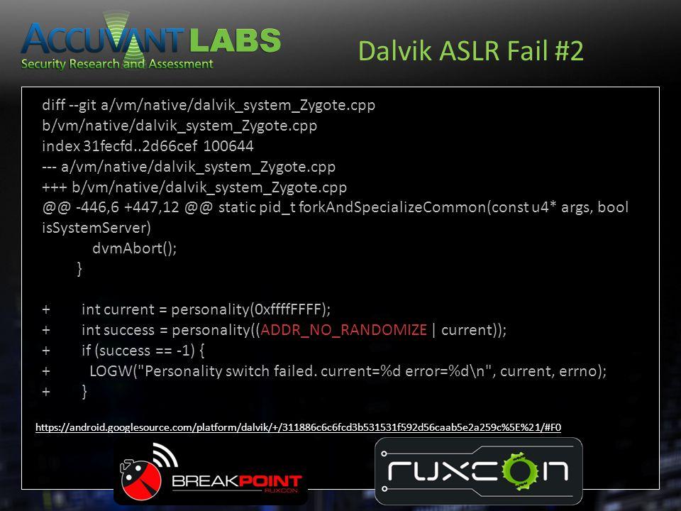 Dalvik ASLR Fail #2 diff --git a/vm/native/dalvik_system_Zygote.cpp b/vm/native/dalvik_system_Zygote.cpp.