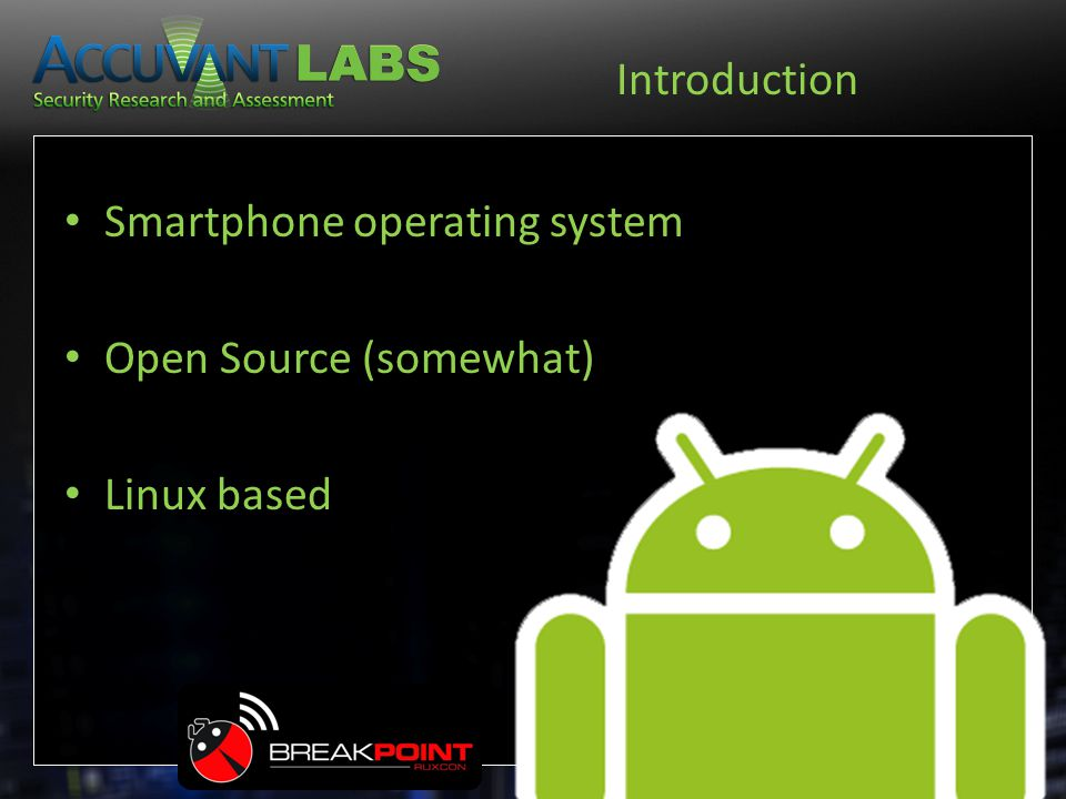 Smartphone operating system Open Source (somewhat) Linux based