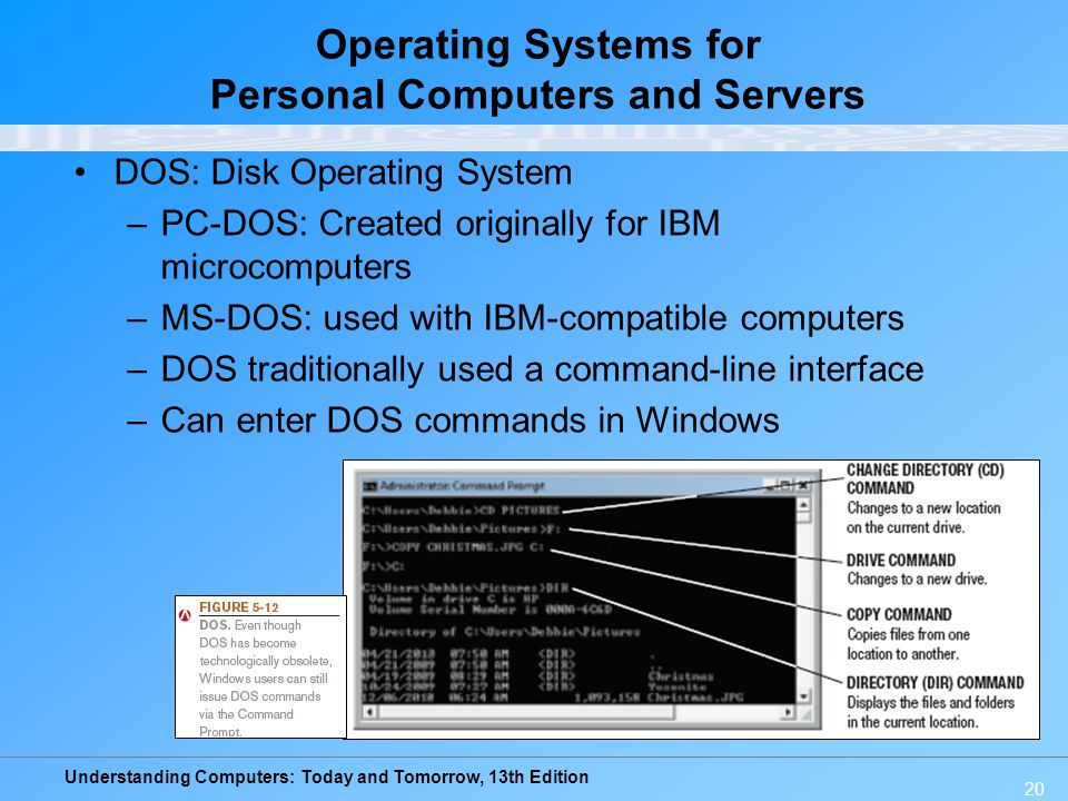 Operating Systems for Personal Computers and Servers
