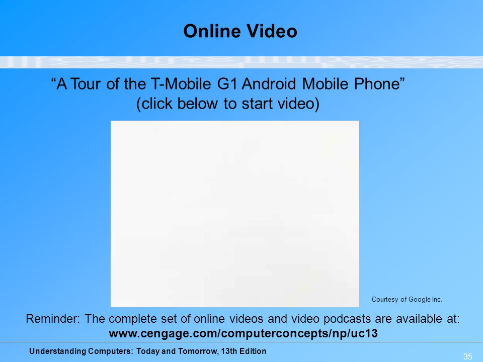 Online Video A Tour of the T-Mobile G1 Android Mobile Phone