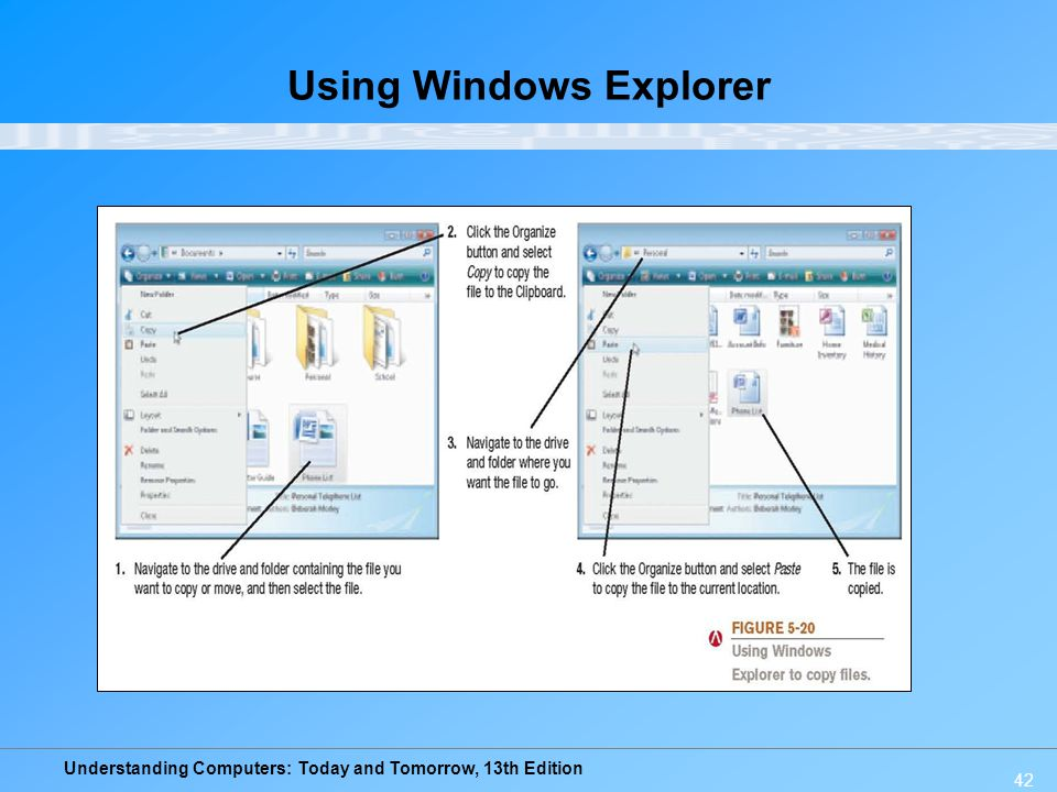 Using Windows Explorer