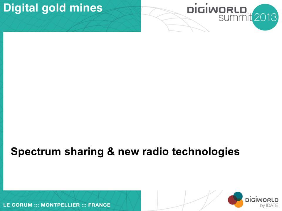 Spectrum sharing & new radio technologies