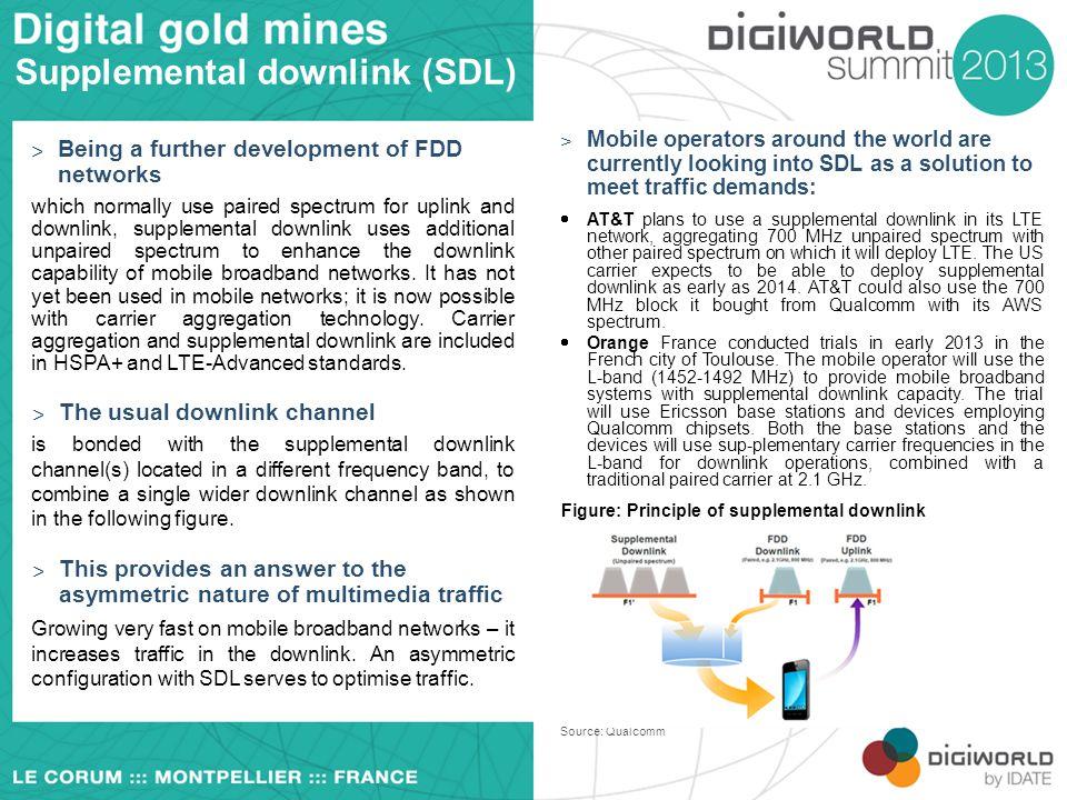 Supplemental downlink (SDL)