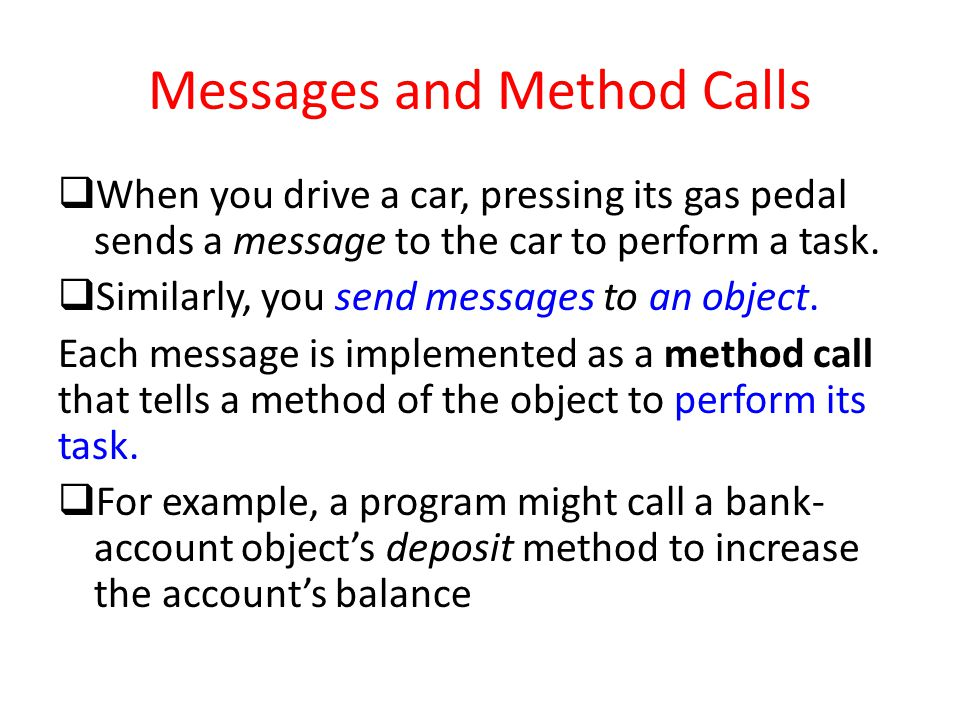 Messages and Method Calls