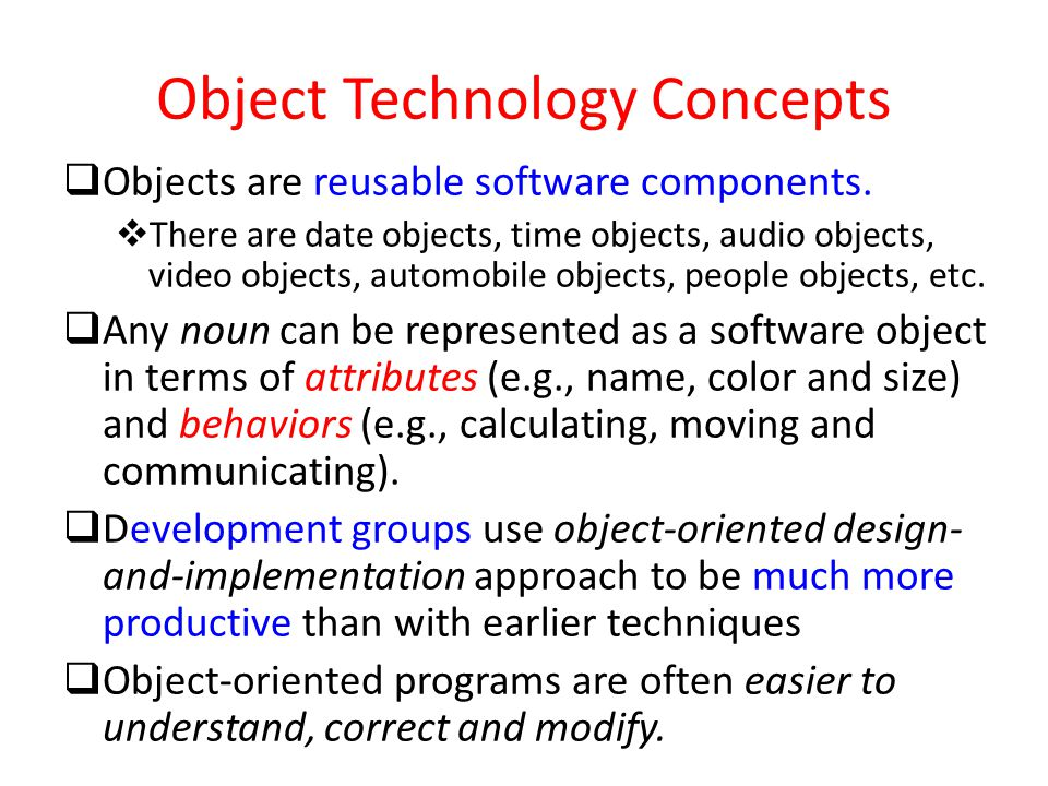 Object Technology Concepts